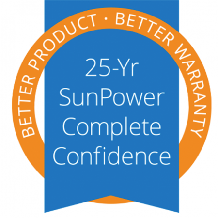 25yr SunPower Complete Confidence badge